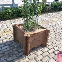 河口区仿木大型水泥花箱 公园道路水泥花池围树凳