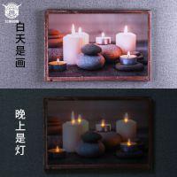 北美28度 北欧浪漫主义LED油画布 家居软装饰品客厅卧室挂画定制