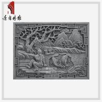 石雕图片 彩雕背景墙 灰色仿古瓷砖 大门对面照壁一般多高
