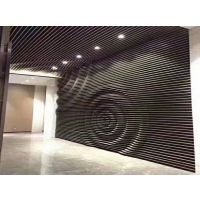 新款背景墙弧形铝方通-形象墙弧形铝板【造型设计】