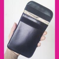 RFID信息防盗屏蔽袋 皮质孕妇防辐射手机袋 三星苹果手机袋定做
