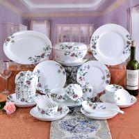 唐山唯奥陶瓷定制厂家餐具欧式碗碟套装 家用50头西式陶瓷餐具商务礼品定制