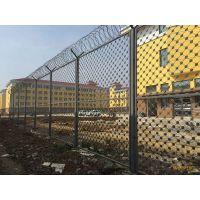 篱笆式铁丝防攀爬监狱钢网墙-监狱围墙刀刺隔离网