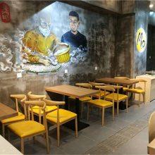 湘菜小炒店桌椅批发,江门时尚木桶饭餐厅家具定制