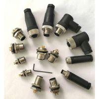 防水IP68连接器 电线电缆航空插头2芯3芯4芯5芯6芯8芯 公母对接