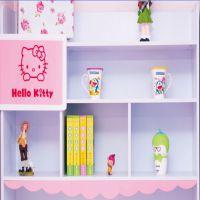 儿童书桌粉色女孩转角直角书桌柜书架书台电脑台式桌写字桌组合