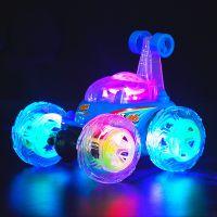 3-8岁儿童玩具电动遥控特技翻斗车音乐跳舞翻滚翻转汽车直接充电