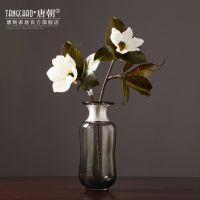 北欧玻璃花瓶 欧式美式样板房创意家居装饰品客厅餐桌花器摆件设