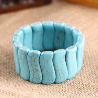 厂家直销批发 蓝爆花松石手链 绿松石手链时尚 水晶手排饰品