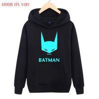 外贸爆款蝙蝠侠夜光男士长袖圆领套头印花春秋保暖卫衣潮