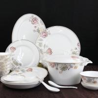 唐山瓷亿美创意56头陶瓷餐具套装 高档骨瓷碗盘厨房餐厅用品碗碟盘子礼品
