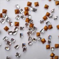 源头厂家1.5*1.5白色仿捷克尖底方钻 玻璃异形水晶钻 钟表手链戒指耳环饰品配件