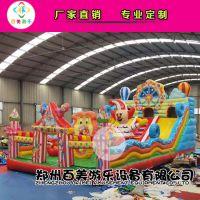 广西钦州儿童新款淘气堡,小猪佩奇气垫蹦蹦床为买家保驾护航