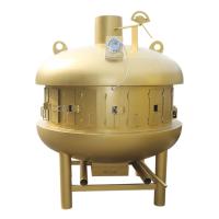 万州鲁焰ufo八卦烤炉金色半圆形大型烤鱼炉太空舱烤鱼炉木炭炼丹炉铸铁炉