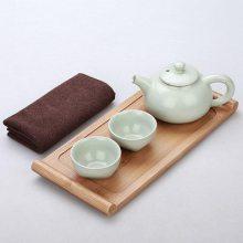 七十周年商务礼品 青瓷茶杯茶壶套装家用商务礼品礼盒 盖碗简约茶杯茶壶整套