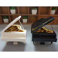 简约花边塑料钢琴音乐盒八音盒创意儿童节天空之城跳舞旋转音乐盒