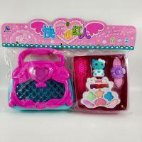 彩妆手提包化妆套装公主拎包便携式女孩过家家梳子KT公仔益智玩具