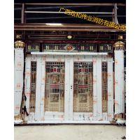 广西住宅楼大门批发 不锈钢 玻璃大门 支持定做