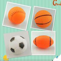 厂家现货发声宠物玩具球儿童休闲玩具球篮球足球棒球橄榄球发泄球