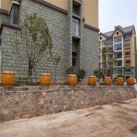 供应大量仿木花箱 巢湖优质组合式水泥仿木花箱