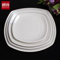 白色加厚仿瓷四方盘 美耐皿 酒店餐饮用品 日式餐具批发