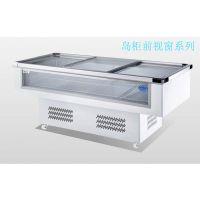 凯雪冷柜KX-1.2WDX凯雪岛柜1.2米前透明玻璃冷冻冷藏展示柜