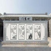 园林广场照壁雕刻 寺庙庭院青石浮雕照壁 大门迎面墙屏风