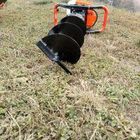 挖树坑机 葡萄藤打桩机 杨树苗大孔径挖坑机