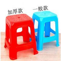 全新料特高塑胶方凳 家用餐厅酒店塑料凳子 47cm高餐桌椅子四脚凳