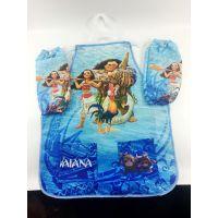 海洋奇缘莫阿娜Moana梦娜公主围裙带袖套防水儿童绘画玩玩大号