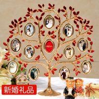 创意新婚生日闺蜜女朋友女生实用diy定制礼物照片结婚周年树摆件