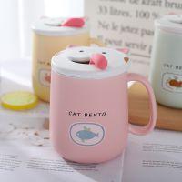 陶瓷马克杯创意猫咪舔舌喝水杯办公室家用咖啡奶茶杯学生礼品杯子