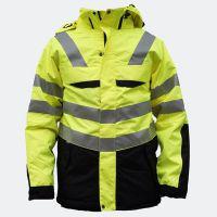 荧光绿反光夹克交通警示安全工作棉服防风防水外贸冲锋衣保暖外套