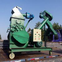 环保无尘大麯粉碎机图片 高效玉米高粱对辊粉碎机 自动提升对辊式红粮青稞破碎机型号产量