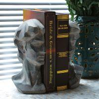 心的家居树脂大卫头雕像摆件名人雕塑书挡书靠 家居饰品 书房用品