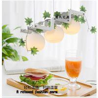 餐厅吧台单头个性吊灯现代红木田园饭厅创意饭店灯饰灯具LED吊灯