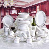 唐山唯奥骨瓷工厂 创意72头餐具 礼品套装 婚庆礼品水具批发定