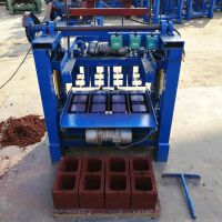 垣华免烧水泥制砖机 建筑垫块机器 空心砖机 半自动混凝土打砖机设备