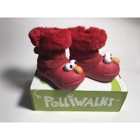 美国芝麻街17秋冬款洞洞鞋保暖3D超Q一脚蹬安全学生幼儿园童靴