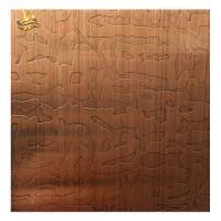 304色不锈钢镀铜板 发黑蚀刻红古铜板 不锈钢蚀刻红古铜板