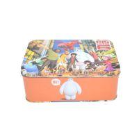 义信利f160长方形动漫拼图玩具铁盒 定制儿童卡片积木铁皮盒 彩印益智教具金属包装 小礼品通用包装