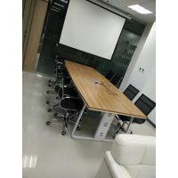办公家具大小型办公会议桌长桌简约现代会议室培训桌椅组合长方形