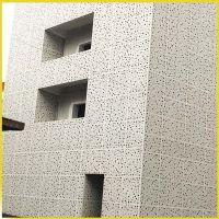 广东佛山三水厂家定制售楼部外墙铝单板异型孔铝单板