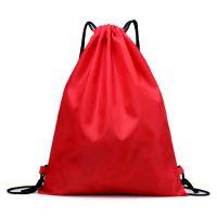 新款束口袋抽绳折叠双肩包简易束口背包定制印logo运动防水收纳袋