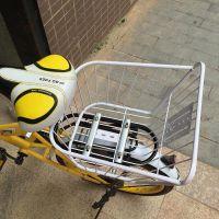 自行车车筐折叠自行车篮前车篮大号后座筐书包娄买菜山地车后置框