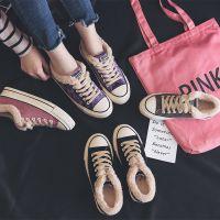 名将 2018冬季新款保暖棉鞋平底加绒休闲女鞋韩版潮鞋时尚棉鞋女