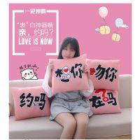 猫之恋 新品创意玩具表白语言抱枕七夕情人节示爱神器靠垫可拆洗