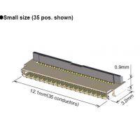 0.3 mm间距,板上方0.9 mm顶部接触背面翻转FH35C-45S-0.3SHW(50)