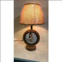 厂家批发 实木圆形台灯相框双面可放照片 创意礼品影楼活动专用