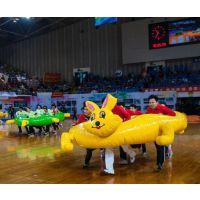 大型运动会趣味器材厂家pvc创意龟兔赛跑5人趣味运动项目道具专供直销